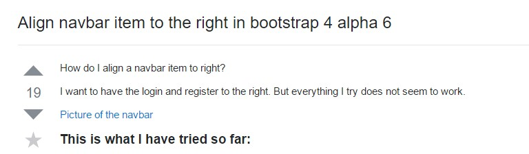 Adjust navbar item to the right  inside Bootstrap 4 alpha 6