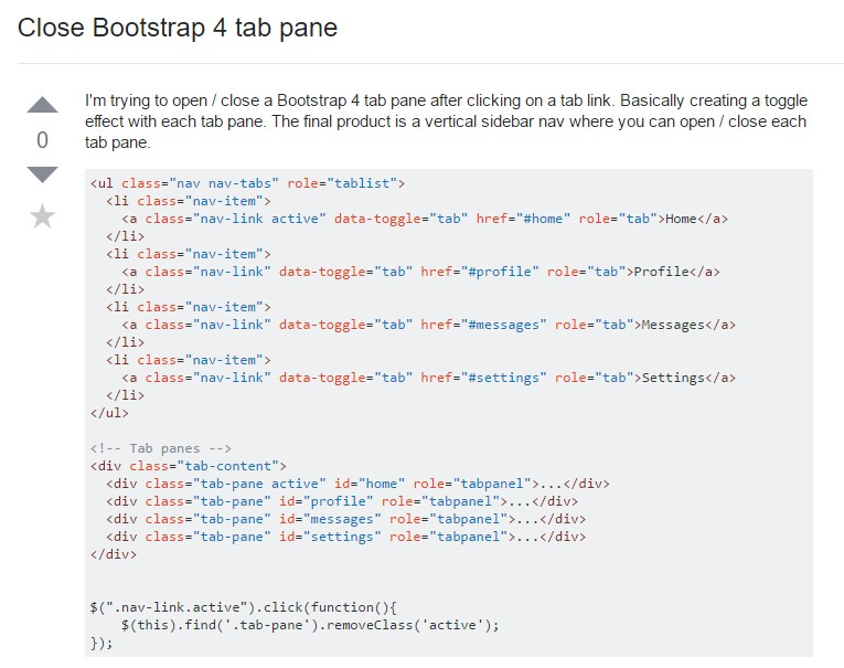 The best ways to  shut off Bootstrap 4 tab pane