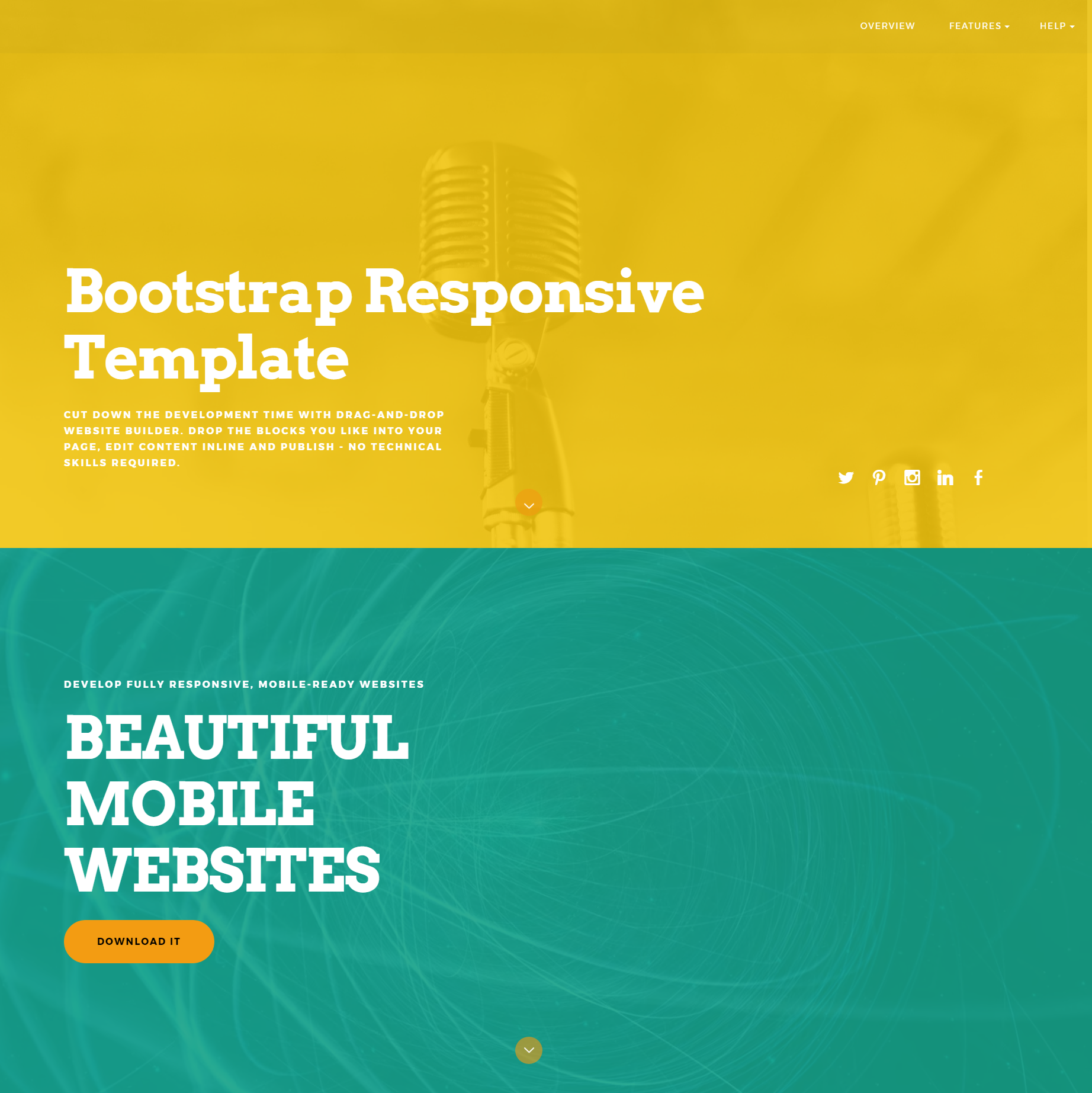 HTML5 Bootstrap ColorM Templates