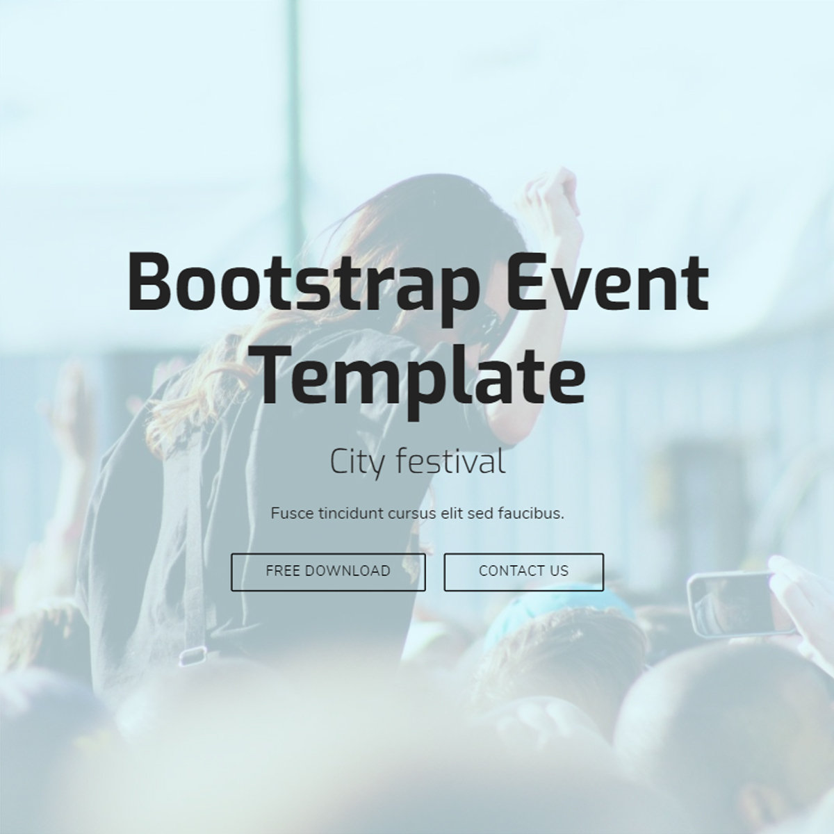 CSS3 Bootstrap Event Themes