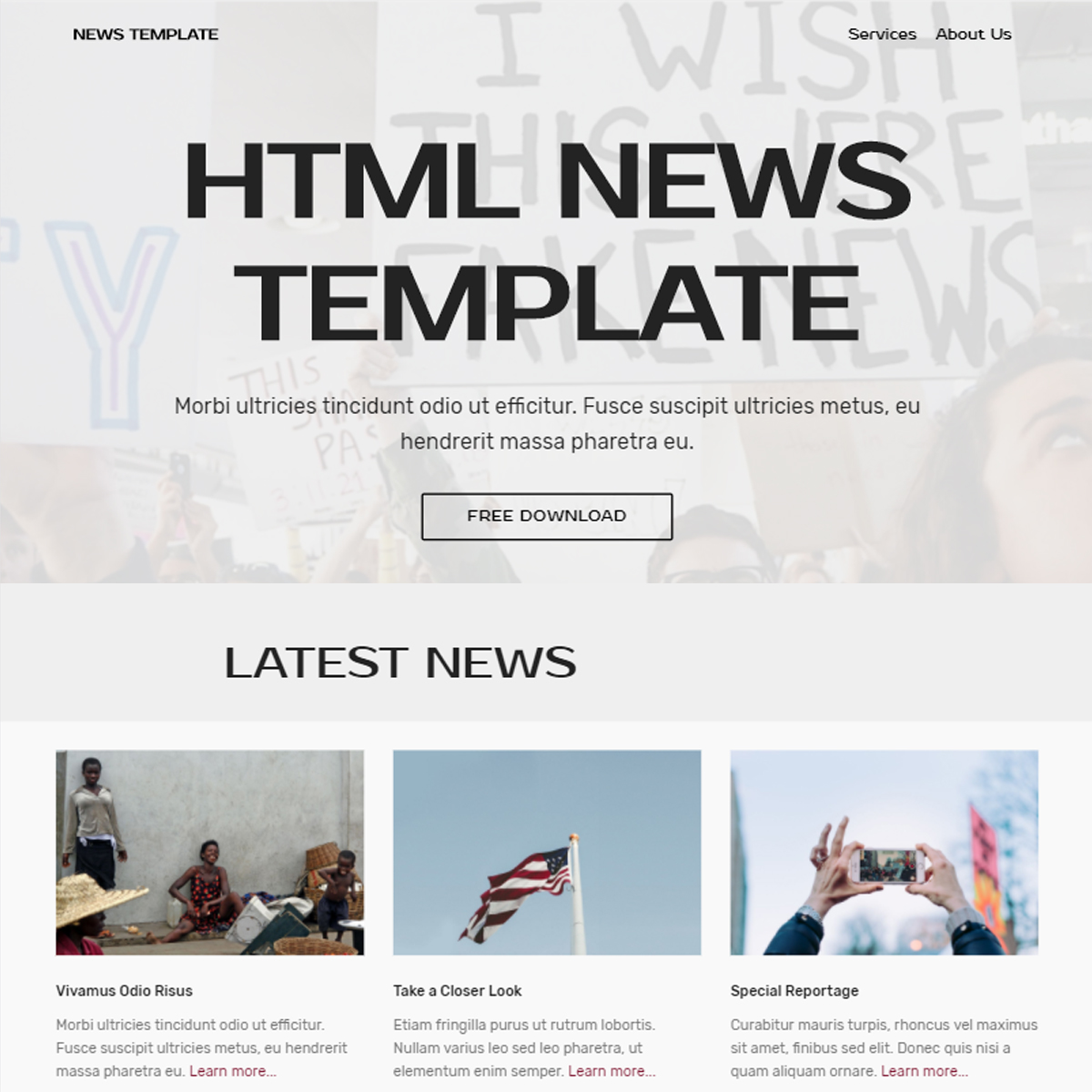 Responsive Bootstrap News Themes