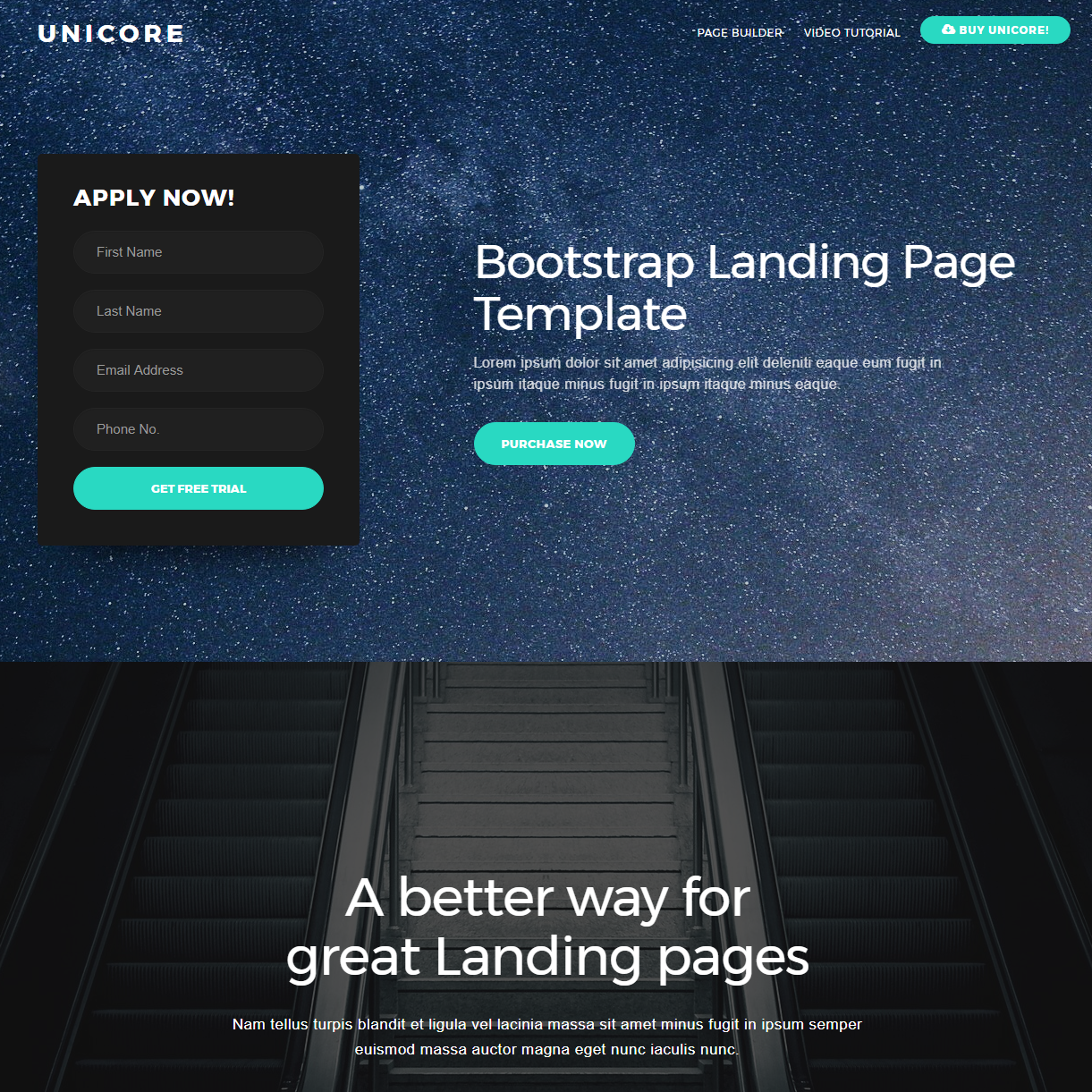 Responsive Bootstrap One Page Themes