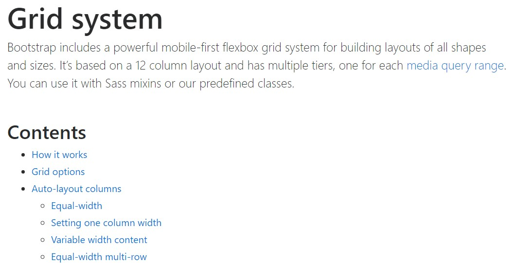 Bootstrap grid  main  records